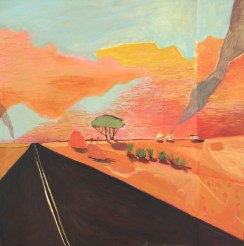 Stuart Highway 2017 Oil on Canvas 90 x 90 cm (Sold)
