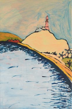Barrenjoey Headland No.2, Acrylic on canvas 35cm x 50cm